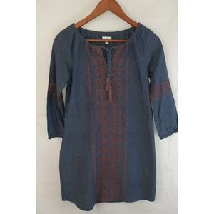 CHARMING CHARLIE Embroidered Peasant Dress XS